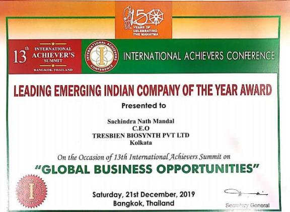 Leading Emerging Indian Company of the year